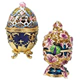 Design Toscano The Royal Garden Faberge-Style 2-Piece Enameled Egg Set