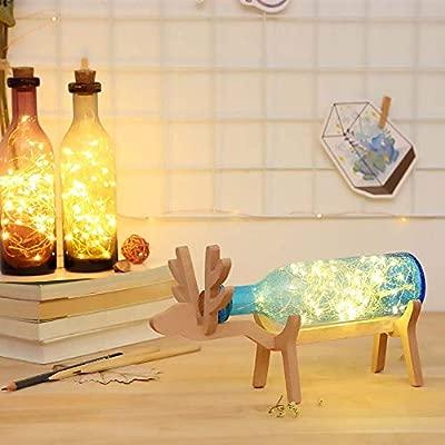 KUVV Botella De Vidrio Europea Que Desea Botella Elk LED ...