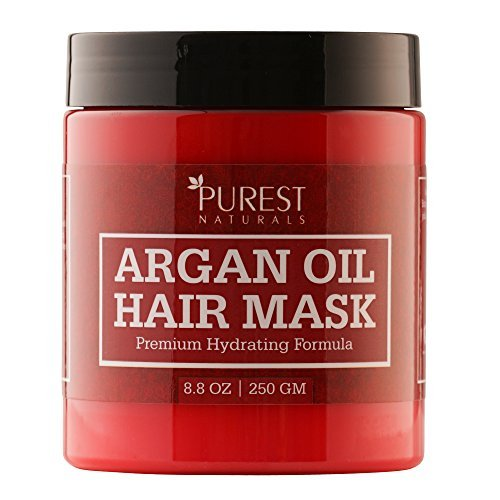 Purest Naturals Premium Hydrating Argan Oil Hair Mask - Best Deep Conditioner Repair Treatment for Damaged & Dry Hair After...