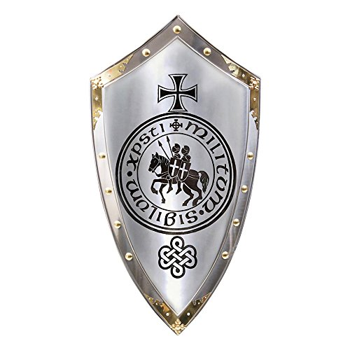 Price comparison product image Armor Venue - Marto of Spain Knights Templar Medieval Shield Metallic One Size