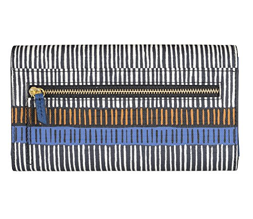 FOSSIL Emma Flap Frizione Navy Stripe