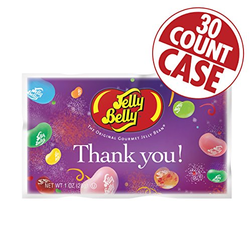 Thank You Assorted Flavors Jelly Beans – 1 oz. Bag - 30-Count Case ()