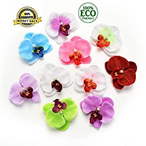 silk flowers in bulk wholesale Fake Flowers Heads Wedding Decoration Artificial Flowers Head Artificial Butterfly Orchid Silk Flower Home Wedding 30pc 6cm(Multicolor) 61