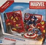 Marvel Universe Captain America and Iron Man Mini Figures with Collector Cards
