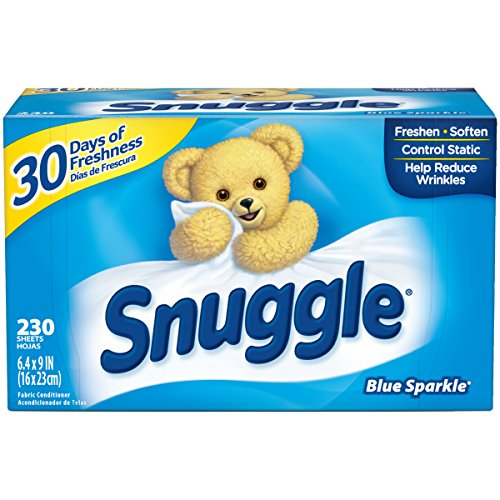 - Snuggle Fabric Softener Dryer Sheets, Blue Sparkle, 230 Count