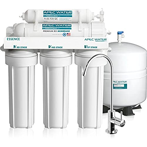 APEC Top Tier 5 Stage Ultra Safe Reverse Osmosis Drinking Water Filter  System (ESSENCE ROES 50)