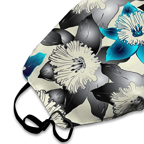 NOT Mask Floral Pattern Hand Drawn Spring Unisex Mouth Mask Adjustable Anti Dust Face Mouth Mask,Fabric Cotton Face Mask for Cycling Camping Travel - Washable,Reusable Cloth Masks