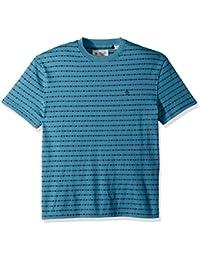 Men's Short Sleeve Jacquard Stripe Tee