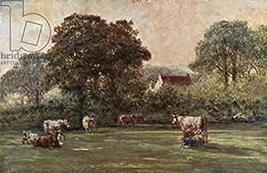 Farm House en Hyde Lane (462272), lino, 50 x 30 cm