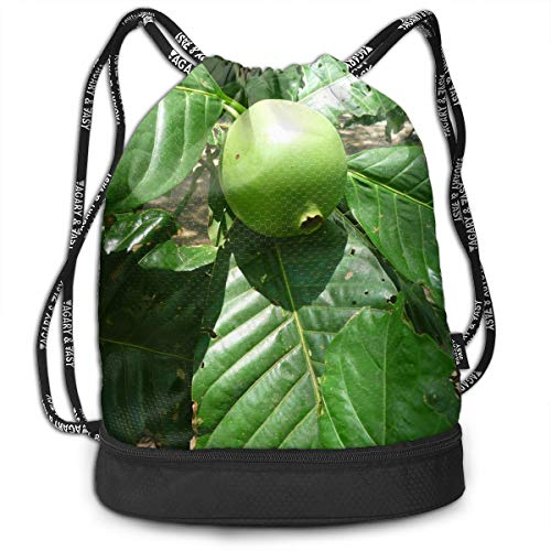 Kkf Gymsack Green Pomegranate Sunshine Print Drawstring Bags - Simple Gym Shoulder Bags