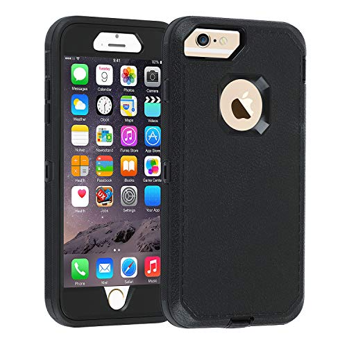 Co-Goldguard iPhone 6s Plus/6 Plus Case,Heavy Duty Armor 3 in 1 with Front Frame Rugged Cover Dust-Proof Shockproof Drop-Proof Scratch-Resistant Anti-Slip Shell for iPhone 6Plus/6sPlus 5.5inch,Black (Iphone 6 Cases Canada)