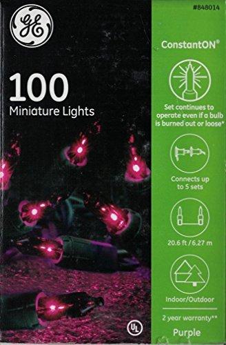 GE Constant On 100 Miniature Lights Purple