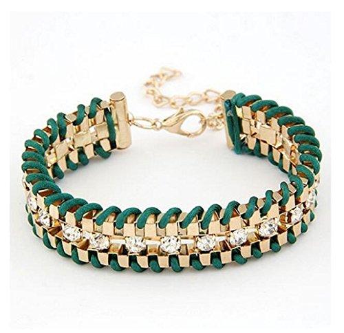 Fariishta Jewelry Diamond Accented Alloy Hand Braided - Celebrities Who Blog