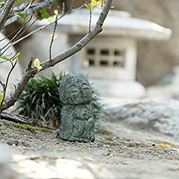 Namaste Jizo Statues Outdoor Statue, Friendly Jizo Japanese Art Garden  Sculptures