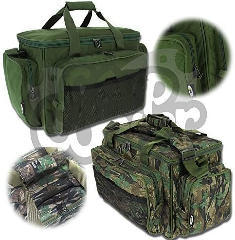 Karpfen Angel Zubeh/ör Carry all Tasche Mit Isoliert Futter In Camo oder Gr/ün