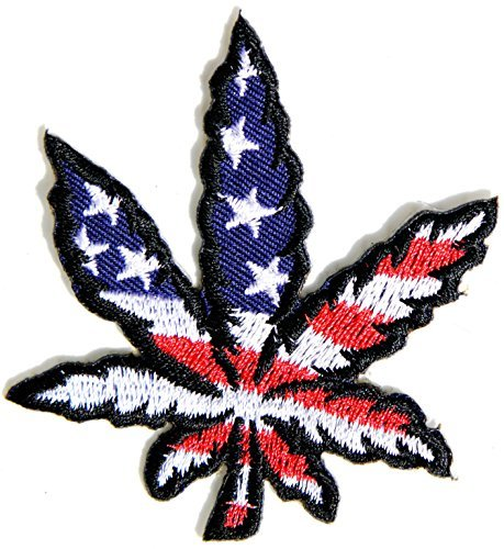 USA American Flag Weed Marijuana Pot Leaf Rasta Rastafari Jamaica Africa Reggae Logo Jacket T shirt Patch Sew Iron on Embroidered Badge Sign Costume