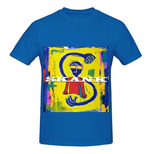 Skank Siderado Funk Album Mens Crew Neck Cotton T Shirt Blue