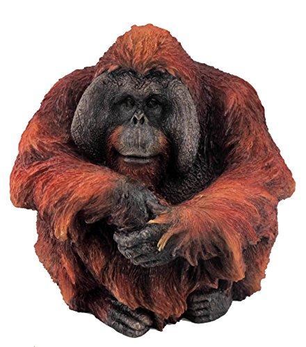 4.5 Inch Large Male Orangutan Decorative Statue Figurine, Orange