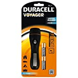 Duracell Flashlight, Voyager CLASSIC Series Torch, 25 Lumen LED Light, Black Rubber Finish, Duracell Batteries Included (Pack of 1) (CL-1)