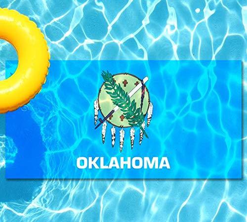 Skips Garage Oklahoma State Flag Pool Mat - Mosaic Pool Tattoo - 2.5' x 5' - Vinyl - Works in Most Pools - Easy Drop-in Installation