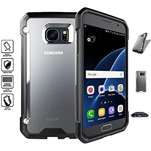 OHOH Hero Series Shockproof Ultimate Protection Case for Galaxy S7 Retail Packaging(Black) Sales