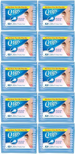 Q-Tips Cotton Swabs Travel Size, 30 count (Pack of 10) (Q Tips Travel Size)