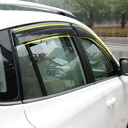 Kust qyd1620r Auto Deflector Rain Guard,side window deflectors for car,Auto Window vent visors rain guards fit for 2017 2016 2015 2014 2013 Rav4 Toyota,Pack of 4 Pieces car window guards