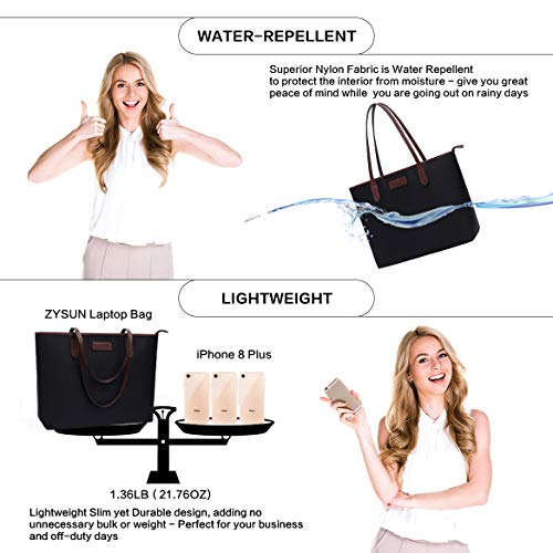 Laptop Bag for Women 15.6-17 inch Lightweight Business Nylon Work Tote Bag Personalized Briefcase with Comfortable…