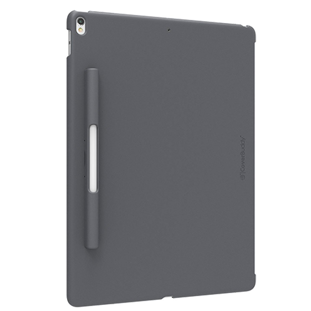 SwitchEasy CoverBuddy Pencil Holder Back Cover for iPad Pro 12.9-inch 2015/2017 Version (Compatible with Smart Keyboard, Smart Cover and Apple Pencil) (Space Gray)