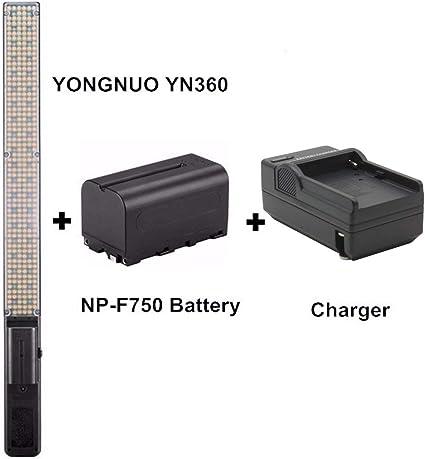 Amazon.com: Yongnuo yn360 Handheld LED Luz de vídeo 3200 K ...