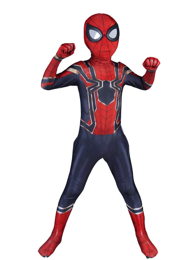 - 51FAlTreDbL - Reshiny Kids Adults Halloween Superhero Costumes Zentai Cosplay Spandex 3D Suit