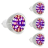 (US) [Pack of 4]eSavebulbs Full Spectrum LED Grow Light,28W GU10 Grow Bulb for indoor Greenhouse Plants