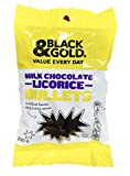 Black & Gold Milk Chocolate Bullets 200g.