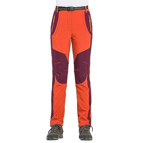 Pantalones de Trekking Softshell para Hombre Pantalones Impermeables  Invierno Otoño PAOLIAN Pantalones de Escalada Al Aire 98b089a44c16