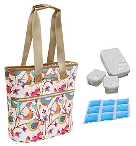 lily-bloom-oversize-insulated-lunch-cooler-tote-with-pack-n-go-containers-tweety-twigs-bone
