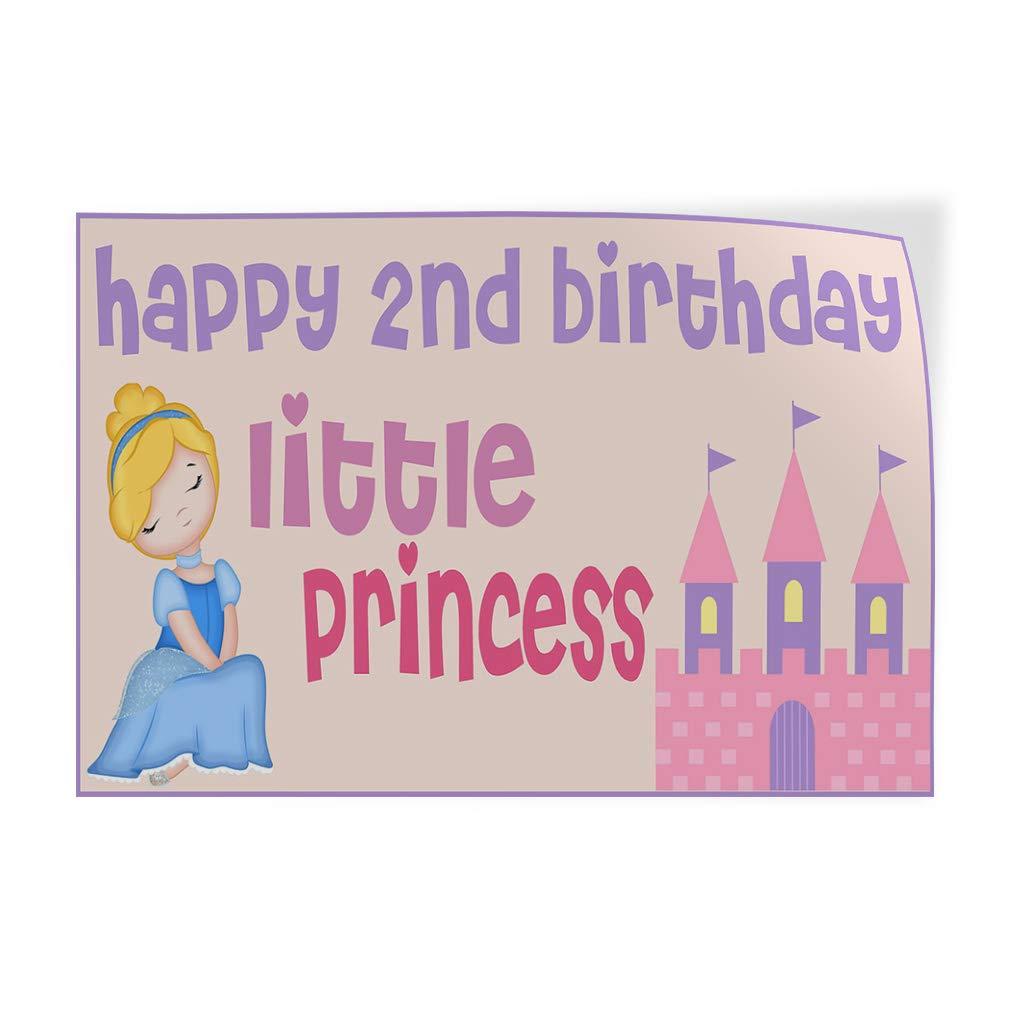 Set of 2 54inx36in Decal Sticker Multiple Sizes Happy 2nd Birhday Princess Lifestyle Happy 2nd Birhday Outdoor Store Sign Purple