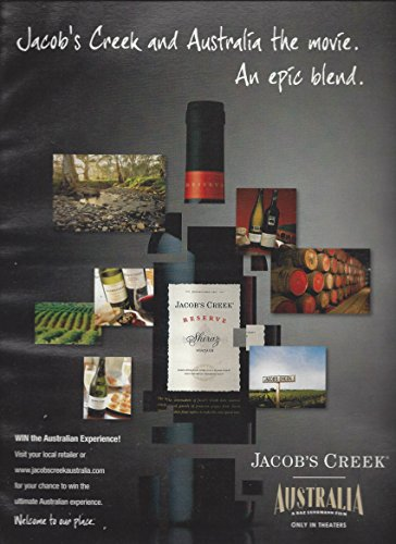 --PRINT AD-- For Jacob's Creek Shiraz Wines: Epic Blend --PRINT AD--