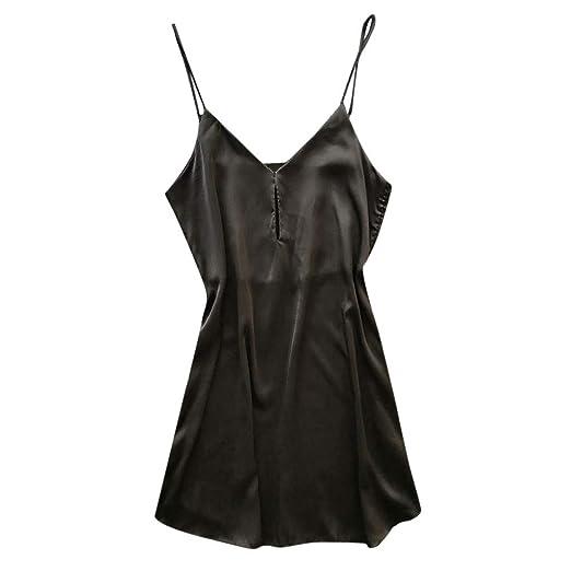 de93b26f322 Women s Nightwear Satin Nightgown Mini Slip Short Pajamas Babydoll Sleepwear  (S