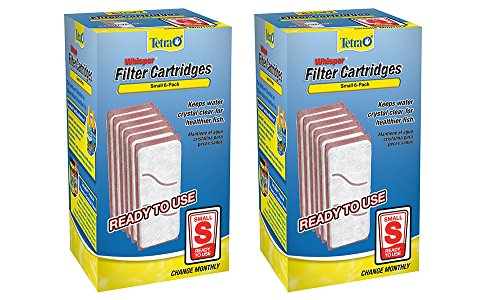 Tetra 19550 Whisper pXIMN Aquarium Filter Cartridge, Small, 6 Count (2 Pack)