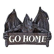 Design Toscano Go Home Gothic Dragon Un Welcome Wall Sculpture