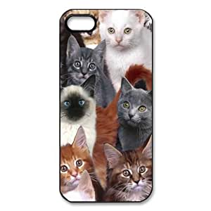 Cats Pattern All Kinds of Cats Hardshell Carrying Case Cover for iPhone 5 5S(4)