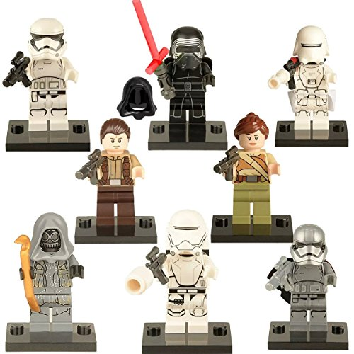 Set-minifiguras-compatible-con-Lego-Star-Wars-Kylo-Han-Solo-Clone-Troopers-Leia