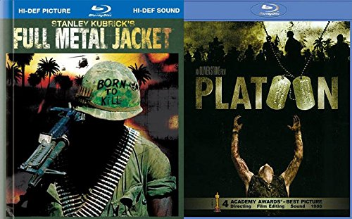 Platoon + Full Metal Jacket Blu Ray Digibook 2 Pack War Movie Action Set (Tom Berenger Born On The Fourth Of July)
