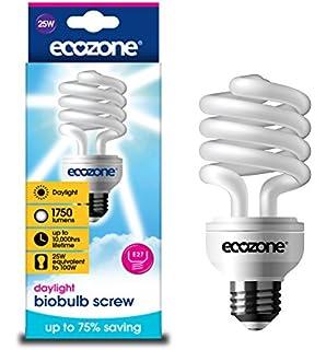 Ecozone Biobulb - Bombilla de ahorro energético (forma espiral, efecto luz natural, 25