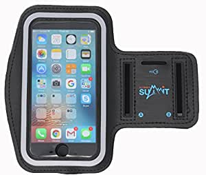 "Ultimate Summit's Touch ID Access for iPhone 7, 6, 6S (4.7"") Running Armband with Key Holder and Screen Protector also compatible with Galaxy S3/S4, iPhone 5/5C/5S"