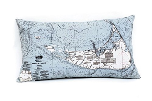 Nantucket Nautical Throw (Nantucket Indoor/Outdoor Nautical Chart Throw Pillow)