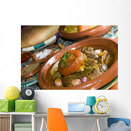 Wallmonkeys Lamb Tagine Dinner Casablanca Wall Mural Peel and Stick Graphic (72 in W x 48 in H) WM92922 ()
