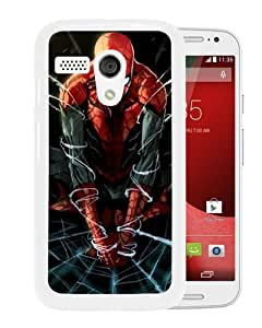 Host Sale Motorola Moto G Case ,Fashion And Durable Designed With Spiderman-Artwork White Motorola Moto G Cover