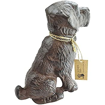 LuLu Decor, 100% Cast Iron Dog Door Stopper, Doorstop, Sculpture, Dog Statue, 6