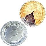 """9"""" Aluminum Foil Pie Pans,50 Pack Disposable"""